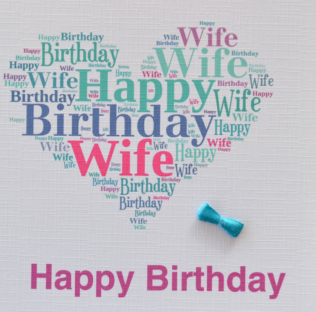 WIFE  BIRTHDAY   order code 421