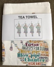 Load image into Gallery viewer, SCOTTISH PIPERS TEA TOWEL