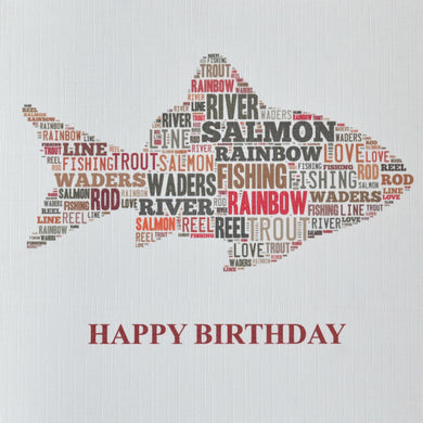FISH   HAPPY BIRTHDAY  -  order code 352