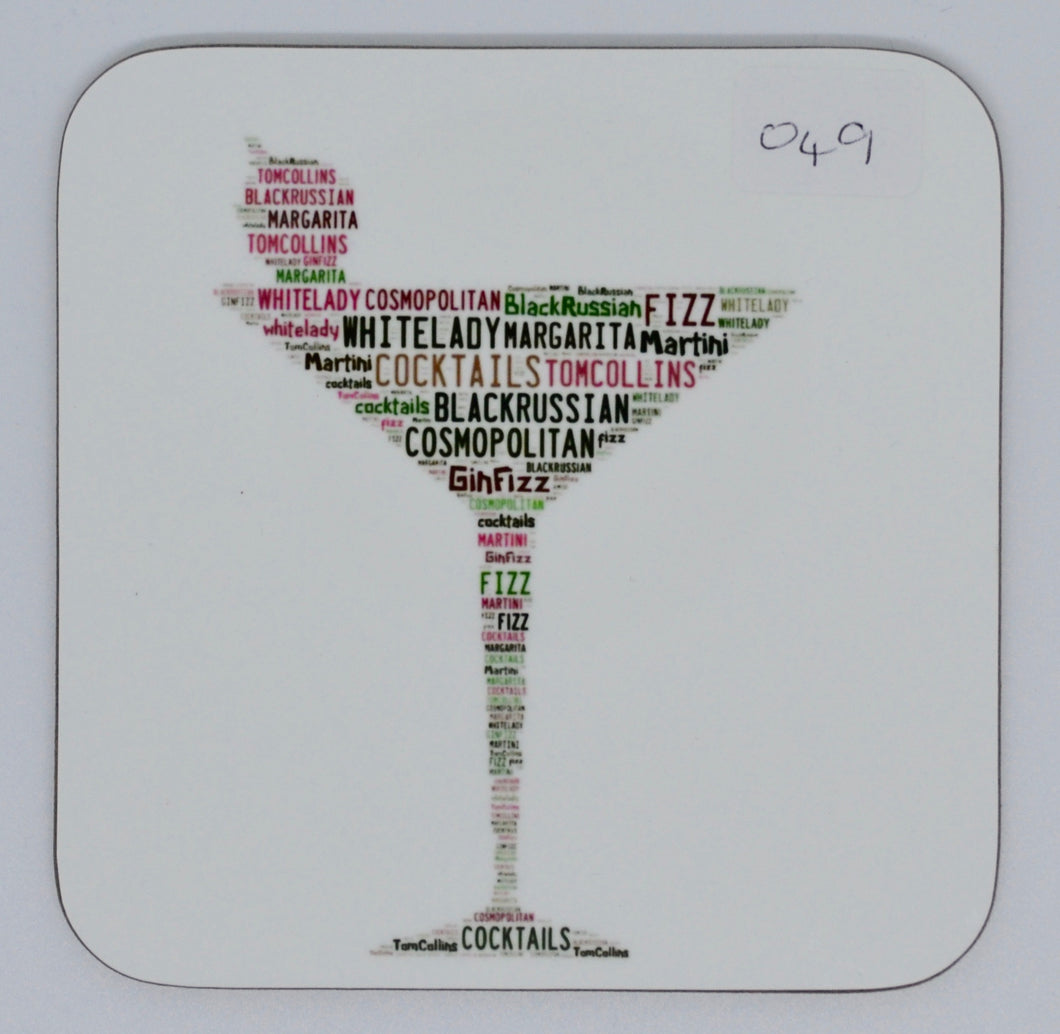Coaster - cocktail glass (order code C049)