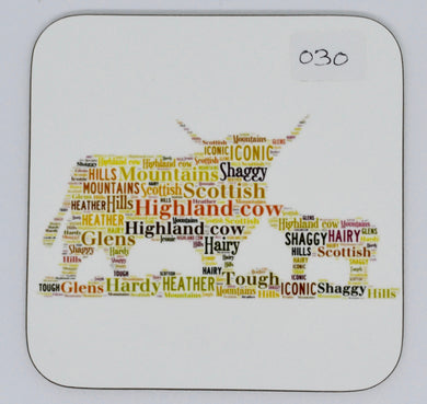 coaster - Highland cow and calf(order code C030)