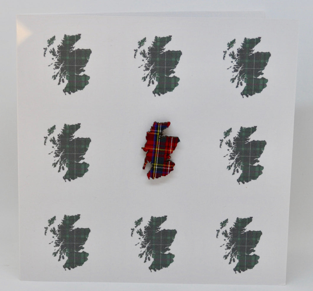 Tartan map of Scotland(order code 618)