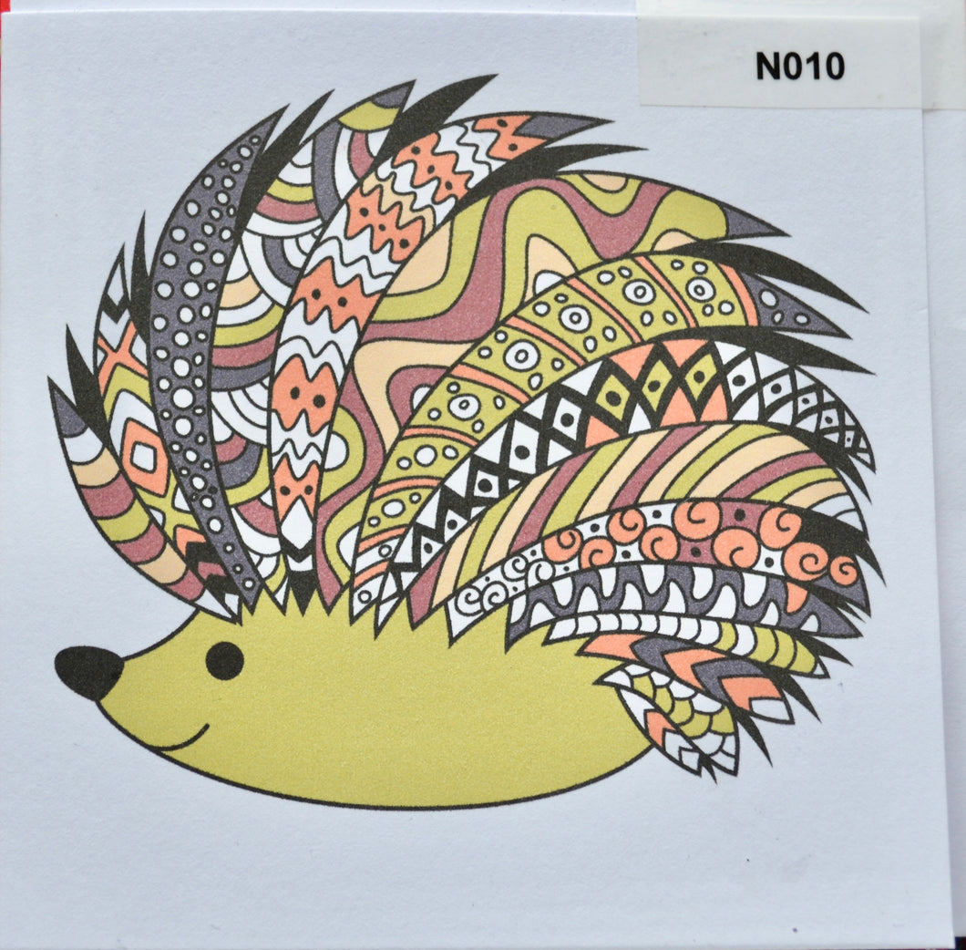 Notelet - hedgehog - order code NO10