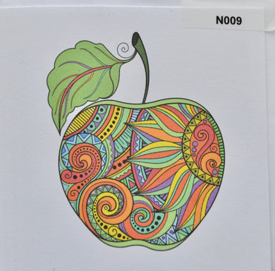 Notelet - Apple  (order code N009)