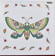 Load image into Gallery viewer, Notelet - Butterfly and leaves  (order code N002)