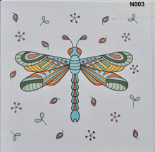 Load image into Gallery viewer, Notelet - Dragonfly (order code N003)