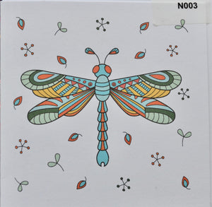 Notelet - Dragonfly (order code N003)