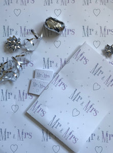 WEDDING - MR & MRS WRAPPING PAPER