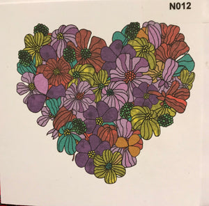 NOTELETS - Heart of flowers  order code N012