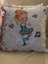 Load image into Gallery viewer, Highland Dancer SEQUIN 'REVEAL' CUSHION