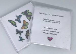 Notelet - Butterfly and leaves  (order code N002)
