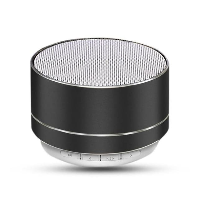 Portable Wireless Led Bluetooth Speaker Stereo With Built Mic Mp3 Mini Subwoof Smart Column Loudspeaker - Black