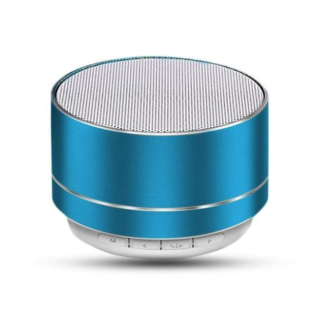 Portable Wireless Led Bluetooth Speaker Stereo With Built Mic Mp3 Mini Subwoof Smart Column Loudspeaker - Blue