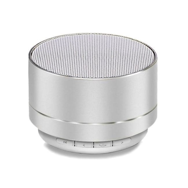 Portable Wireless Led Bluetooth Speaker Stereo With Built Mic Mp3 Mini Subwoof Smart Column Loudspeaker - Silver
