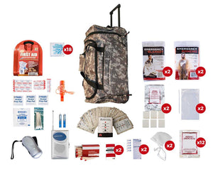 2 Person Survival Kit (72+ Hours) - Camo Wheel Bag  BlackStar Survival Emergency Kits blackstar-survival.myshopify.com BlackStar Survival