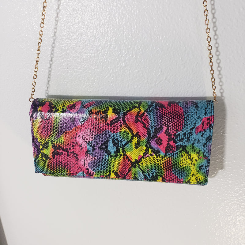 Katie~Multi Snake Clutch
