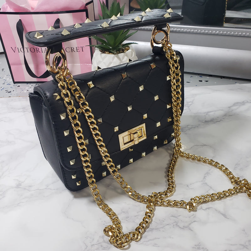 Cross~Mini Studded Body Bag