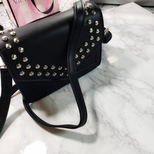 Load image into Gallery viewer, Becca~ Black mini studded envelope clutch