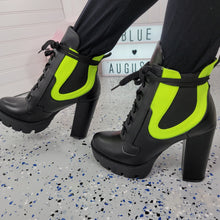 Load image into Gallery viewer, Gunship~Black & Green Bootie
