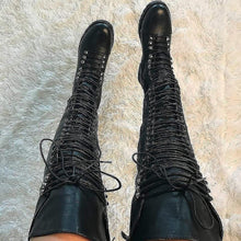 Load image into Gallery viewer, Travis~Extreme Thigh High Black Boot