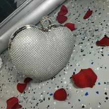 Load image into Gallery viewer, Heart Rhinestone Mini Clutch