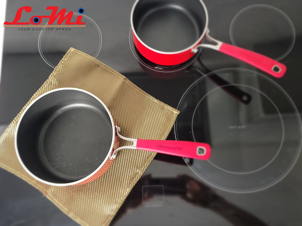"LoMi Version 3.0 —  individual burner size 12""x12"" (Bundle of 4) - The CooktopMat"