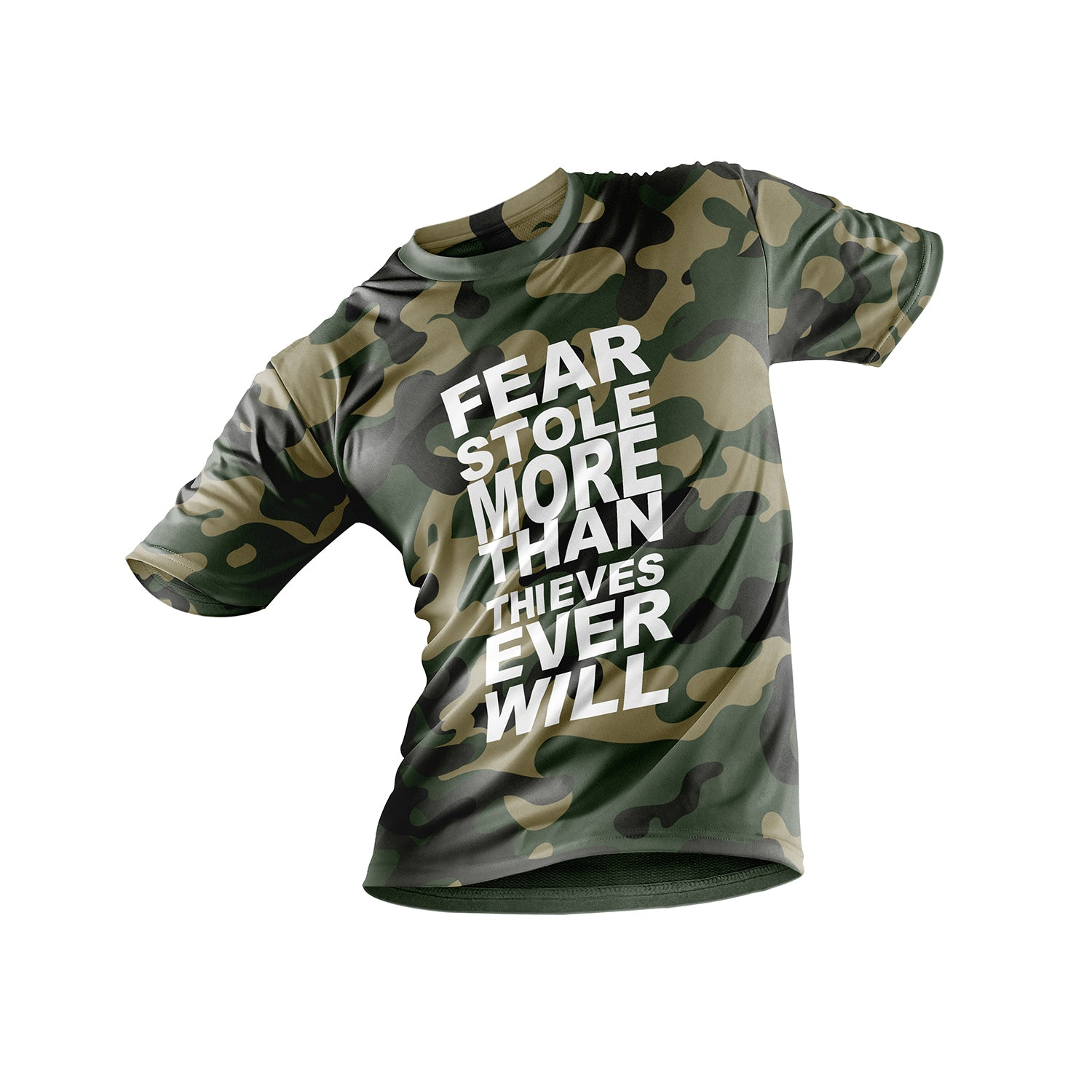 FNXC Fear Stole More Green Camo T-Shirt