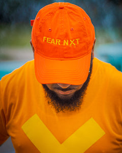 Orange Yellow X Drip Dad Cap