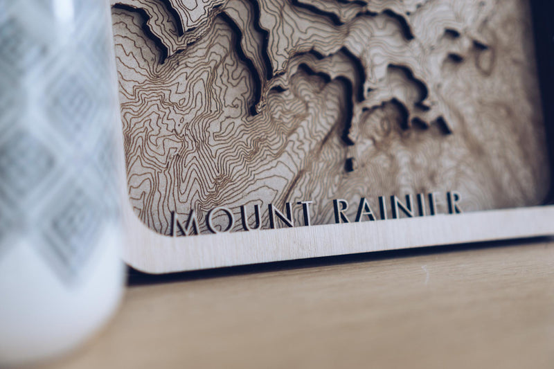 Mount rainier Laser cut map