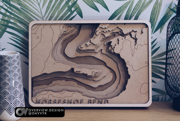 Horseshoe Bend Wood Map