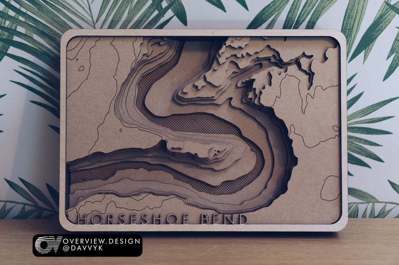 Laser Cut Wood Map