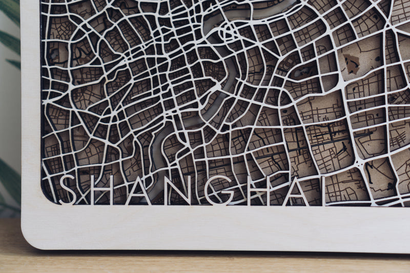 shanghair laser cut map