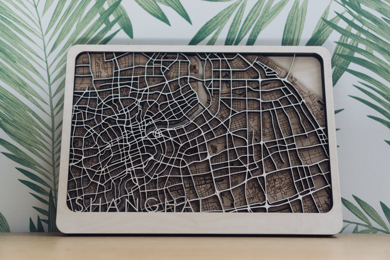 Shanghai wood map