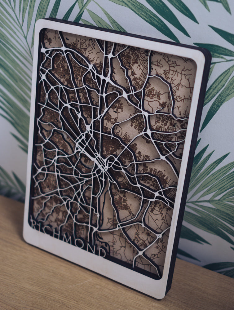 richmond laser cut map