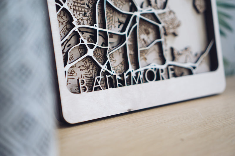 Baltimore wood map