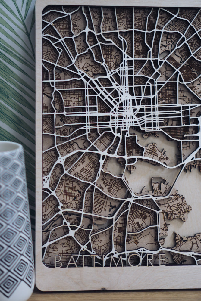 Baltimore laser cut map