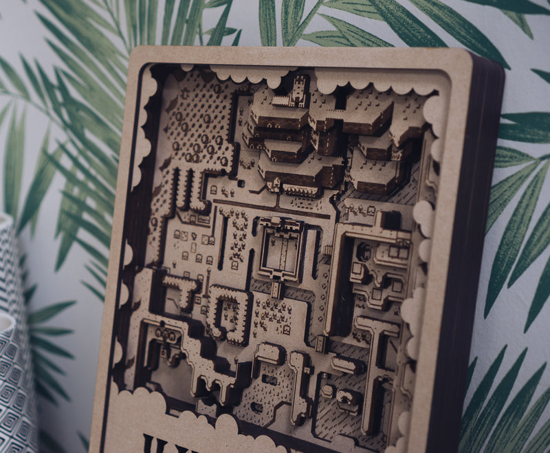 Zelda Laser Cut Map