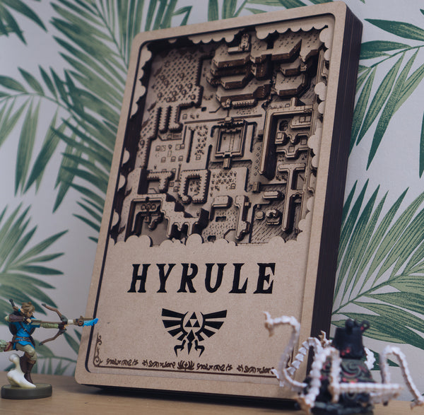 Hyrule Laser Cut Map