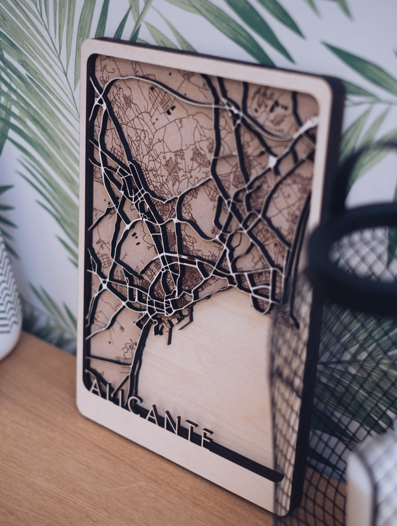 Alicante Laser Cut Maps