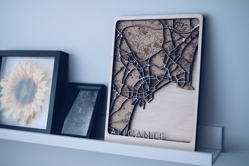 Alicante wood map