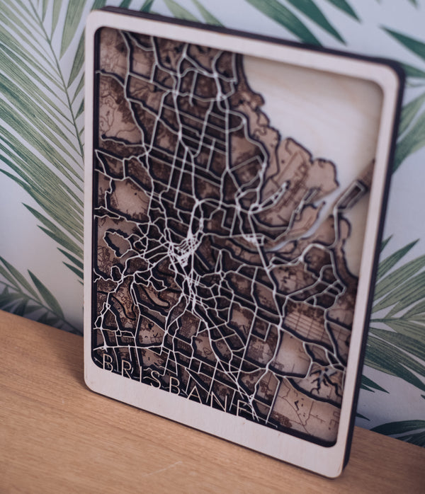 Brisbane Wood Map
