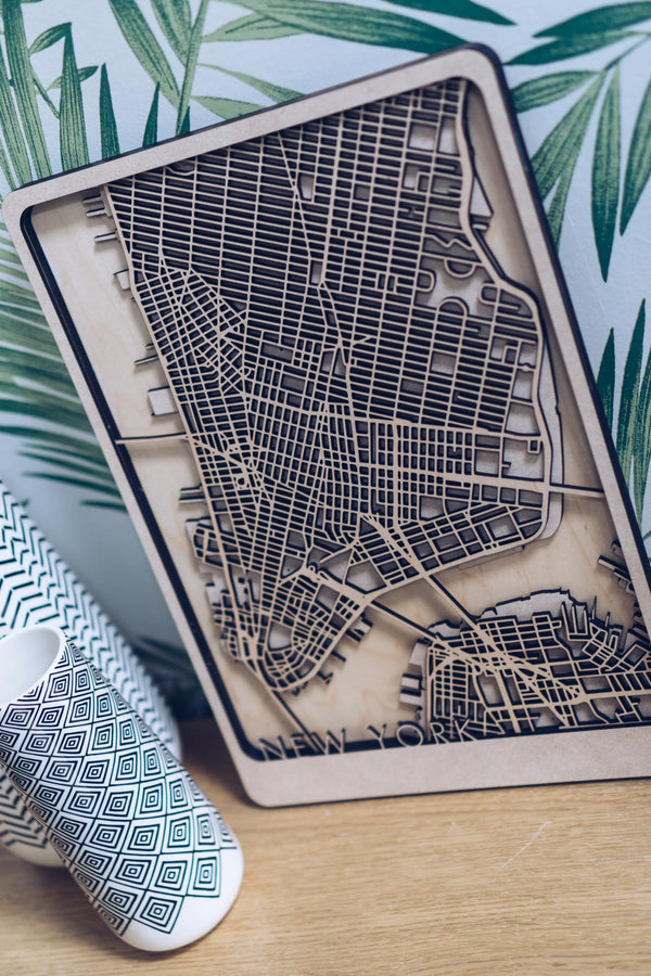 New York Wood Map