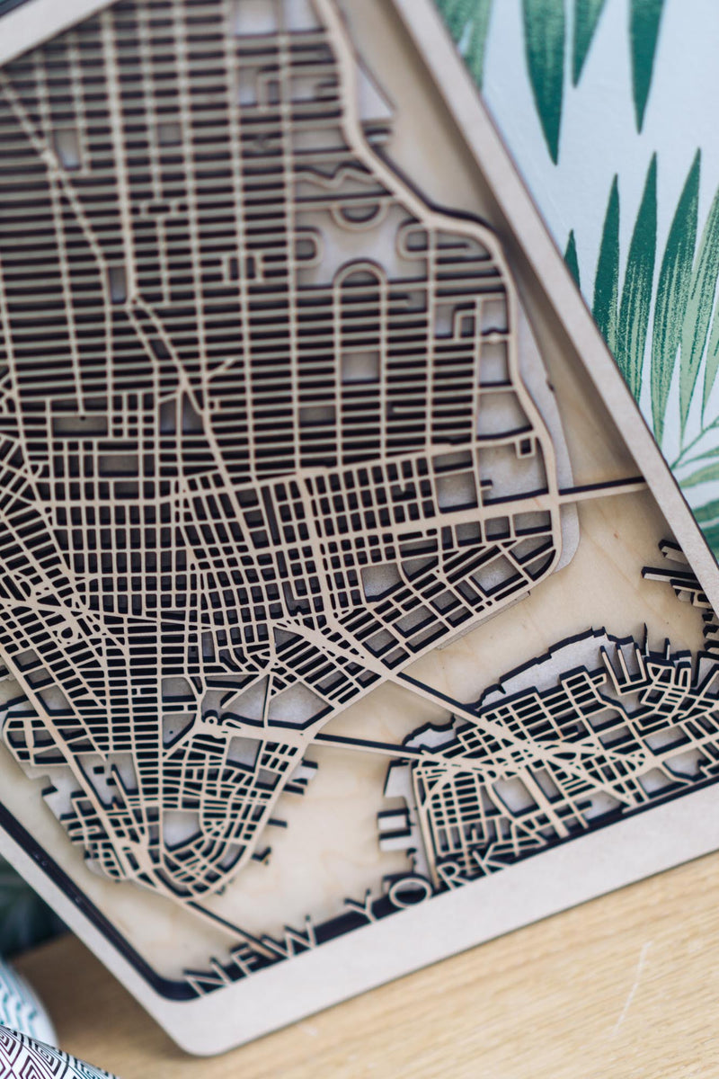 New York Laser cut art