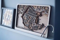 dubrovnik laser cut map