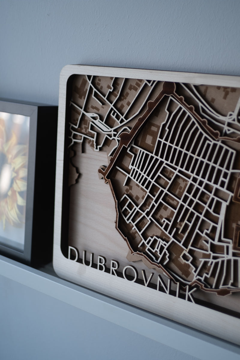 custom laser cut map