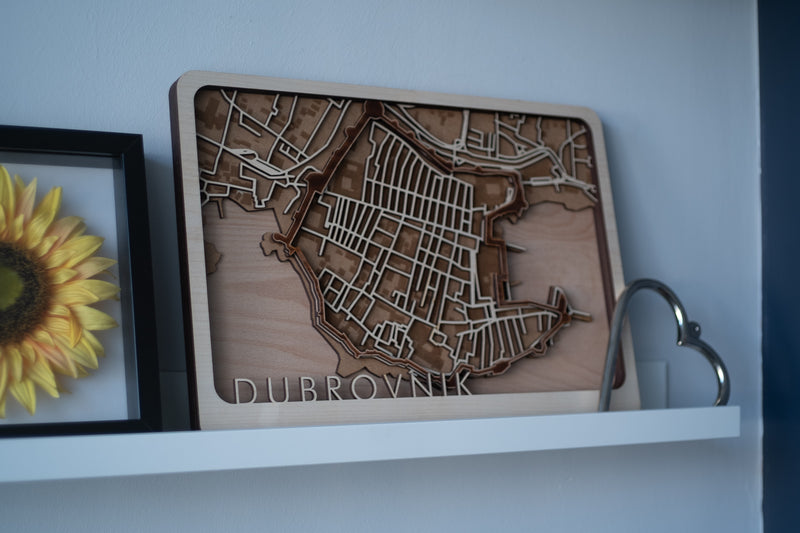 croatia laser cut map