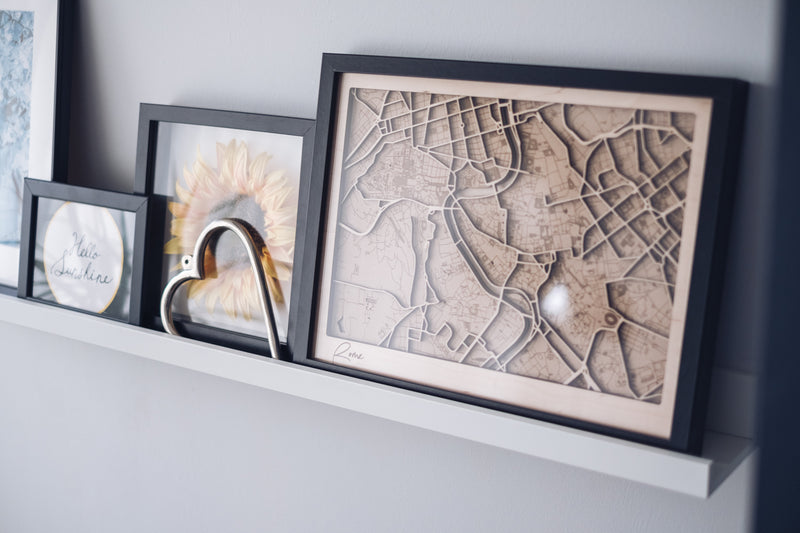 Rome Framed City Map