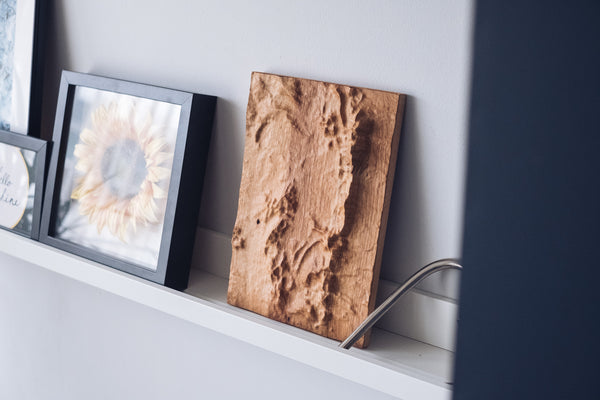 Malvern Hills and Colwall Full Hardwood Topographic Carved Map