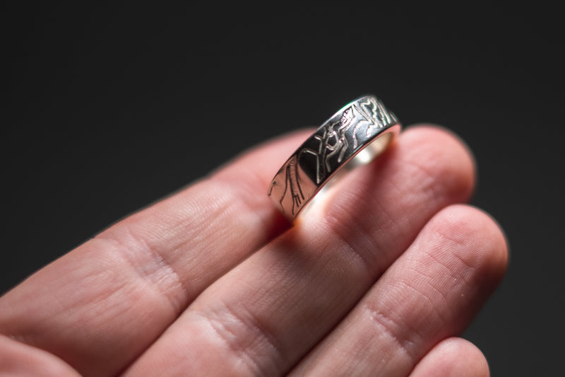 Custom Location Topographic Ring