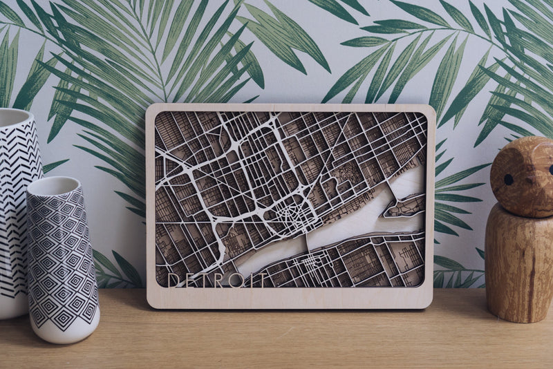 Detroit Wood Map